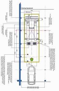 Mot bay dimensions v tech uk garage equipment for Mot architecture